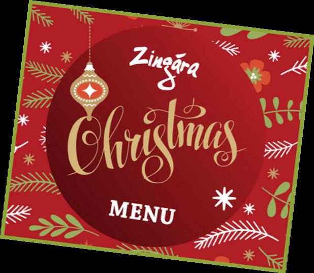 Zingara Christmas Menu Banner